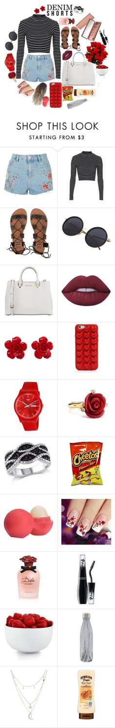 """Untitled #26"" by lexidesautels ❤ liked on Polyvore featuring Topshop, Billabong, MICHAEL Michael Kors, Lime Crime, Chanel, Marc Jacobs, Swatch, Oscar de la Renta, Eos and Dolce&Gabbana"