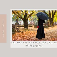 @AmberravWrites posted to Instagram: You died before you could answer my proposal. #writingprompt #writersblock #amwriting #writerscommunity #instawriting #spilledthoughts #writingislife #christianfiction #christianwriters #fictionwriter #writerslife #aspiringwriter #promptedtowrite #acfwcommunity #writingprompts #amwritingya #quotes #cleanromance #write #storyideas #prompt #writersofinstagram #writersofig #writing #writersnetwork #aspiringwriters #storystarter #promptedwriter #embersgram⠀ Story Starters, Writing Prompts, Proposal, Patio, Outdoor Decor, Quotes, Instagram, Quotations
