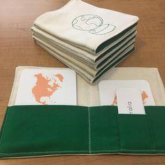 Enveloppe de carte 3-partie Montessori géographie Montessori