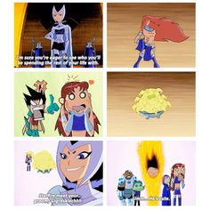 Robin's jealousy brings me to tears Teen Titans Tv Series, Teen Titans Robin, Teen Titans Go, Robin Starfire, Original Teen Titans, Dc Memes, Avengers Memes, Young Justice, Kids Shows