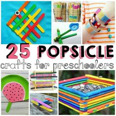 25 Popsicle Crafts for Preschoolers.Bust summertime boredom with these fun popsicle stick crafts Popsicle Stick Crafts For Kids, Popsicle Sticks, Craft Stick Crafts, Preschool Crafts, Craft Sticks, Craft Ideas, Kid Crafts, Catapult Craft, Sensory Bottles For Toddlers