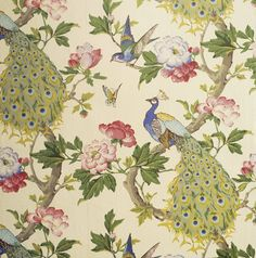 Detail of the Peacock wallpaper in the Lobby near the Red Bedroom at Erddig  ©NTPL/Mike Williams
