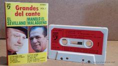 EL SEVILLANO / MANOLO EL MALAGUEÑO. GRANDES DEL CANTE. VOL.1. MC / DISCOPHON / COMO NUEVO.