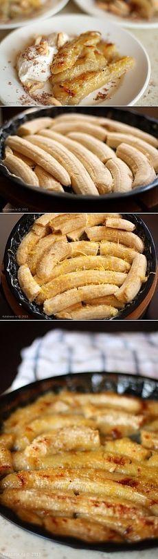 Десерт из запеченных бананов - очень вкусно и просто)