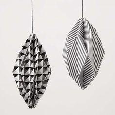 Rhombeformede kugler i Paris designpapir