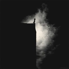 Menoevil aka Sureeyapon Sri-ampai (Thai, b. Bangkok, Thailand based) - Above The Abyss, 2013 Photography Dark Photography, Black And White Photography, Dark Thoughts, Dark Places, Light And Shadow, Dark Art, Dark Side, Les Oeuvres, The Darkest