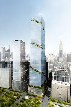 Imagem 1 de 11 da galeria de BIG propõe torre espiral próximo ao High Line. © Tishman Speyer