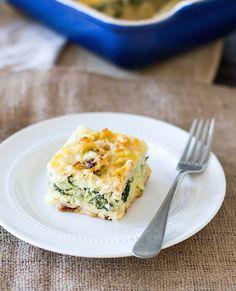 Layered Vegetarian Egg Bake • HeartBeet Kitchen