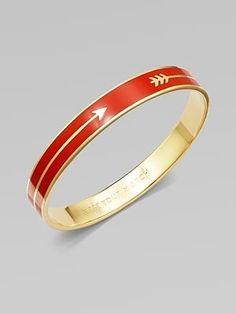 Kate Spade Enamel Accented Arrow Bracelet. Love.