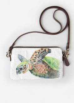 VIDA Leather Statement Clutch - Horse Watercolor by VIDA