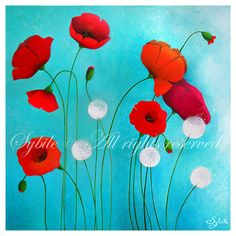 Print Poppies by Sybile on Etsy
