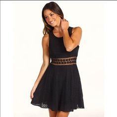 Black Free people daisy waist dress. Brand new, with tags, black Free people daisy waist dress. So cute and perfect little black summer dress! Free People Dresses Mini