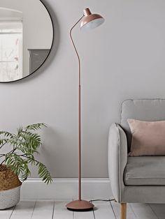 NEW Blush & Silver Floor Lamp - Modern Floor Lamps - Luxury Lamps & Lights - Luxury Modern Lighting Modern Floor Lamps, Floor Standing Lamps, Silver Floor Lamp, Lamp, Beautiful Floor Lamps, Flooring, Standing Lamp, Lamps Living Room, Floor Lamps Living Room