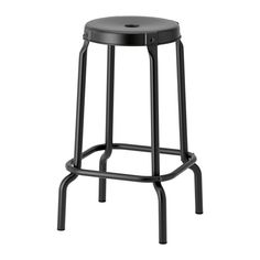 IKEA - RÅSKOG, Bar stool, Easy to move thanks to the hole in the seat.Plastic feet protect the furniture when in contact with a damp surface.With footrest for relaxed sitting posture.