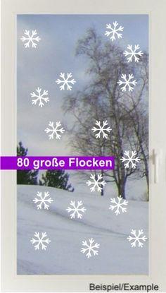 Weihnachtsdeko - Schneesturm - Groß - Fenstertattoo Set - ein Designerstück von CatrinKerschl bei DaWanda