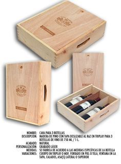 ·: PULSO :: Diseño y Manufactura :·A la vieja usanza Wood Packaging, Perfume Packaging, Wine Gift Boxes, Wooden Gift Boxes, Woodworking Furniture, Woodworking Projects, Wood Box Design, Wood Wine Racks, Wine Bottle Holders