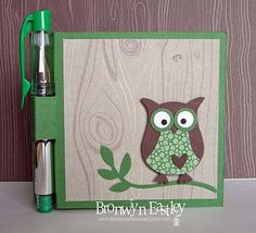 addINKtive designs: Woodland Walk Owl - Post-It-Note Holder