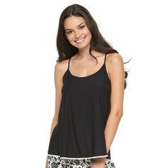 Women's Apt. 9® Pajamas: Monique Border Solid Sleep Tank, Size: