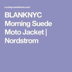 BLANKNYC Morning Suede Moto Jacket | Nordstrom