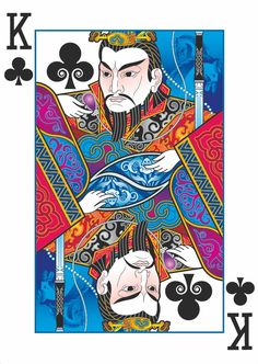 A playing card deck with art inspired by ancient Chinese legends. Intricate, custom designs never seen before.