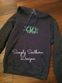 MONOGRAM HOODIE  Greek Embroidery by SouthernPrepBoutique on Etsy