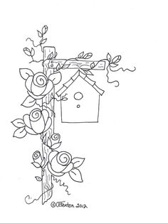 Hand Embroidery Patterns, Vintage Embroidery, Embroidery Applique, Cross Stitch Embroidery, Embroidery Designs, Machine Embroidery, Broderie Primitive, Colouring Pages, Coloring Books