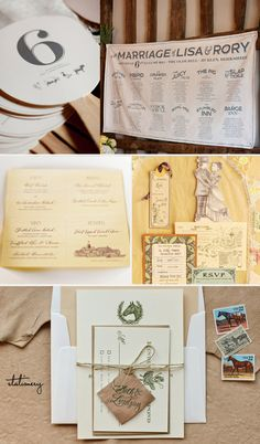Stationery   Fans and fabric bar menu: 100 Layer Cake  Menus: Grey Likes Weddings  Hand-drawn invite suite: SMP  Equestrian Stationery with Leather details: Oh So Beautiful Paper