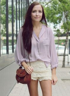 Love this outfit! Just need the lavender shirt!