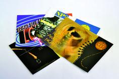 Steve Rachwal STEVEN RACHWAL DESIGN 12 Post Cards Topkote Dull 111 lb Cover 4/0   CMYK + Satin Aqueous Trim
