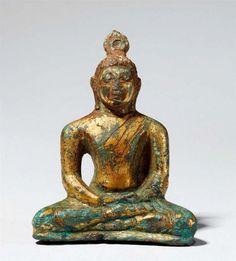 Lot : Buddha. Bronze, vergoldet. Shri Lanka. Anuradhapura. 6./7 Jh.  - Im[...] | Dans la vente Art d'Asie à Kunsthaus Lempertz