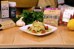 Head into the Kitchen with Kroger and whip up a plateful of Basil Pesto Pasta! This delicious dinner recipe combines all your favorite fresh ingredients. Even your kids will love every bite of this healthy meal.
