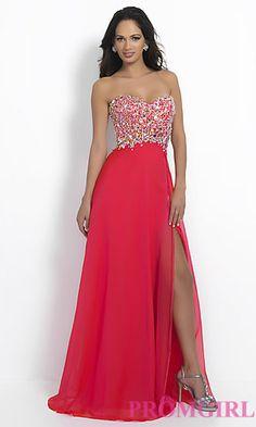 Strapless Sweetheart Floor Length Blush Dress at PromGirl.com