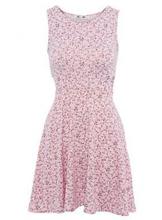 Red Label   Floral print cut out skater