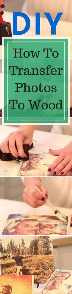 DIY Project - How To Transfer Photos To Wood for an amazing and affordable decorating idea. Full tutorial: http://www.thesawguy.com/how-to-transfer-a-photo-onto-wood-5-simple-steps/                                                                                                                                                                                 More