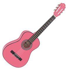 Junior 1/2 Klasická gitara, ružová, podľa Gear4music na Gear4Music.com