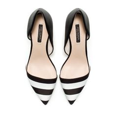 Why do I become obsessed with something once it's sold out?? Zara striped heels