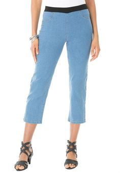 Riders By Lee Women's Plus-Size Denim Core Capri - Walmart.com ...