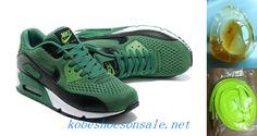 2013 Nike Air Max 90 Premiun EM Shoes On Sale Court Green Black White 553564 008