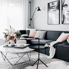 Hard lines & soft textures #design #decor #interiordesign #interiordecor