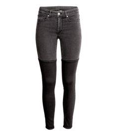 12/2016 Super Skinny Regular Jeans | Musta/Harmaa | H&M
