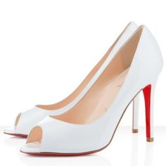 Christian Louboutin Sexy 100mm Pumps Mandarin White