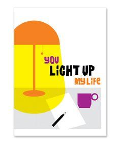 desk lamp friendship card