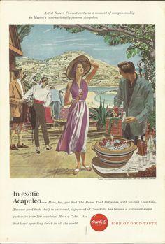 Coke 1957 Vintage Ad Robert Fawcett Mexico