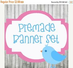 Premade Etsy Shop banner and free matching by lilpinkzebradesigns