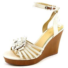 fee1e87107af56 XOXO Raina Women US 10 Nude Wedge Sandal    Check out the image by visiting