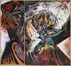 Philip Clairmont  Innocence Threatened Cobra Art, New Zealand Art, Nz Art, Fine Art Auctions, Australian Art, Auction Items, Modern Artists, Art Object, Oil On Canvas