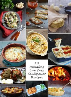 25 of the best cauliflower recipes on Pinterest!  Even your kids and picky husband will love them!
