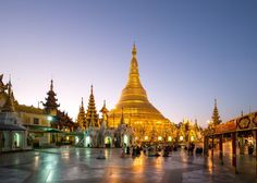 One of Buddhism's most sacred sites, the 325ft zedi here is adorned with 27 metric tons of gold leaf, along with thousands of diamonds and other gems