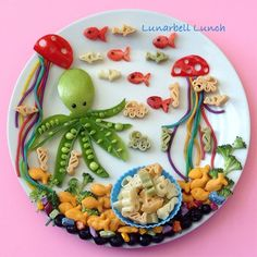 Under The Sea Fun Food Lunch Sarah Gonzalez @lunarbell_lunch