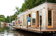 Get closer to nature with a floating eco-home on the Thames
